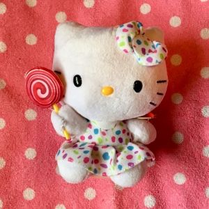 "HELLO KITTY Lollipop-Themed 6"" Collectible Plush"